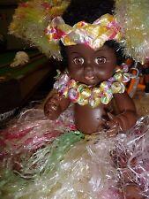 Black Doll vintage Hula