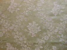 Antique French Sage Green Floral Damask Ticking Cotton Fabric ~pillow upholster