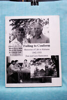 Failing to Conform - Memories of Life in Alabama 1942-55 - Rasmussen - 82 pages