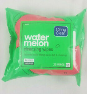 Clean & Clear Watermelon Facial Hydrating Cleansing Wipes 25 Count Oil Free