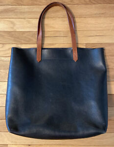Madewell Transport Tote Large Black Leather