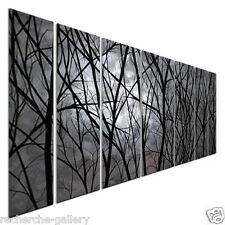 Abstract Metal Wall Art Moon Light Justin Strom Forest Trees Modern Home Decor