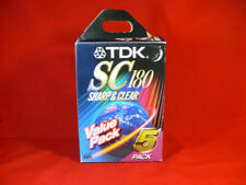 5 X TDK Blank Sc180 VHS Video Cassette Tapes
