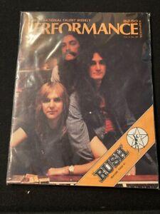 Rush cover feature magazine concert tour Performance 1977