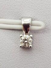 100% Genuine 9ct W/Gold Diamond Pendant 0.10 point - Gorgeous Diamond !