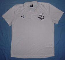 Everton FC (Toffees) / 2015-2016 - UMBRO - MENS white polo Shirt. Size: XL