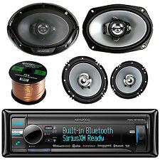 "KDC-BT562U CD MP3 AUX Bluetooth Receiver,6.5"" & 6X9""Car Speakers w/Speaker Wire"