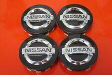 4 Nabenabdeckungen/Radkappen für Alufelgen von Nissan in schwarz SET 2