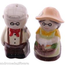 Old Fogey Gardening Couple salt & pepper set !FREE UK P&P!