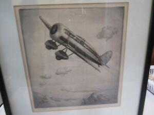 1930 Summer Skies  Texaco # 13 Original Etching By John Macgilchrist