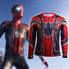 2018 Avengers Infinity War Spiderman T-Shirts Cosplay Avengers 3 Sports T-Shirts