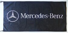 MERCEDES BENZ FLAG BLACK - SIZE 150x75cm (5x2.5 ft) - BRAND NEW