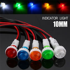 12V 10mm Car Boat LED Indicator Pilot Dash Dashboard Panel Warning Light Lamp