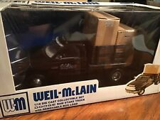 Dodge RAM 3500 1/18 ertl RC2 1 ton dually flatbed dump with boxes Weil McLain