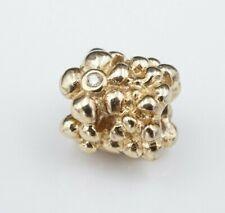 Rare Pandora 14k Yellow Gold Diamond Daisey Flower Charm 750344D CHS1539