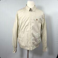 Tommy Hilfiger Men Beige Jacket Size Large Full Zipper Top Coat - D39