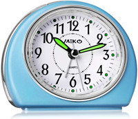Alarm Clocks Non-Ticking for Bedrooms Smart Tickless with Snooze and Nightlight