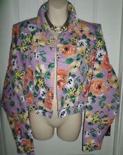 Women's Floral Jean Coats & Jackets
