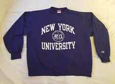 Vintage New York University  NYU Violets Champion Sweater Size XL