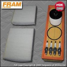 SERVICE KIT PEUGEOT 207 1.4 8V FRAM OIL AIR CABIN FILTERS PLUGS (2006-2011)