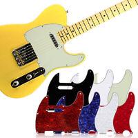 Tele Telecaster Style Guitar Pickguard Pick Guard PVC Plate Screw Anti-Scratch