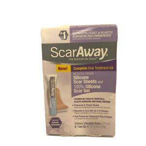 ScarAway Complete Scar Treatement Kit Exp 01/22 Damaged Box