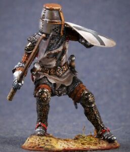 Tin toy soldier 54 mm Superb Elite painting in St.Petersburg.Medieval Knight