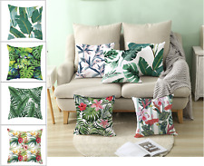 Tropical Palm Leaves Polyester Cushion Cover, 45x45cm