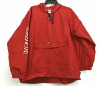 The Disney Store Mens XL Red 1/4 Zip Front Pocket Mickey Mouse & Friends Jacket