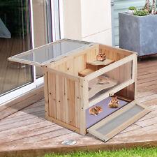Holz Nagerkäfig Käfig Hamsterkäfig Mäusekäfig Ratten Chinchillakäfig Kleintier
