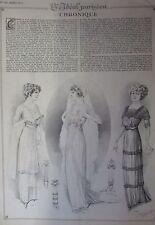 REVUE L IDEAL PARISIEN N° 156 de 1911 GRAVURES MODE COUTURE ROBES SOIREE MARIAGE