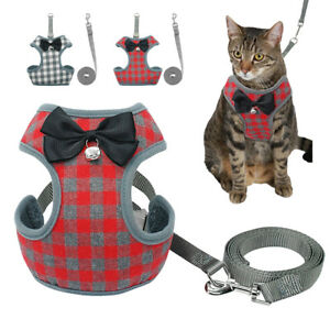 Cat Walking Jacket Harness and Leash Pet Escape Proof Mesh Vest for Small Dogs