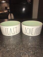 CHOOSE YOURS: NEW Rae Dunn Magenta Dog / Pet Dishes , Bowls Medium