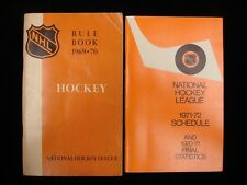 Lot of 2 NHL Official Booklets - 1971-72 Schedule & 1969-70 Rulebook