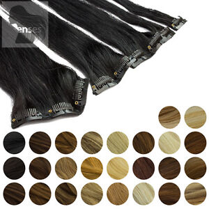 SALE Clip In Extensions Clip Haarteile 45 cm 60 cm Indisches Remy 100% Echthaar