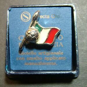 Selecta Gold Pin Flag Italian With Soccer Ball Football Enamelled
