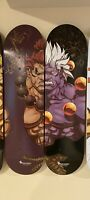 Nsurgo Street Fighter Akuma And Oni Deck Skateboard Set Long Vo NYCC SDCC
