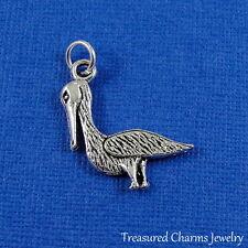 Silver PELICAN CHARM Huron Sea Ocean Tropical Bird PENDANT *NEW*