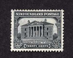 Newfoundland #157 20 Cent Grey Black Colonial Building Publicity 1 Issue MNG