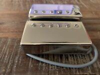 NEW-Gibson '57 Classic Style Neck and Bridge Set Humbucker Guitar Pickup Chrome