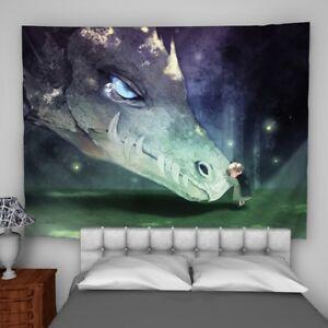 Dragon Boy Tapestry Wall Hanging Mandala Bedspread Indian Poster