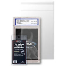 100 - Graded Card Sleeves  3 3/4 x 5 1/2 BCW Resealable Protect Graded Cards