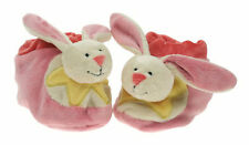BRAND NEW PINK BUNNY RABBIT SOFT PLUSH CHILD'S BOOTIES SLIPPERS SHOES SOCKS GIFT
