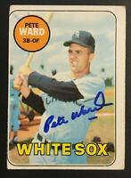 Pete Ward White Sox signed 1969 Topps baseball card #155 Auto Autograph 2