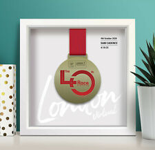 Virtual London Marathon Personalised Medal Frame 'script'