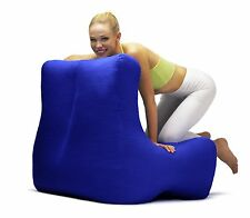 Bean Chair furniture, cotton velvet- BLUE colour