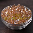 25pcs 6mm Cube Square Faceted Crystal Glass Loose Spacer Beads Champagne AB