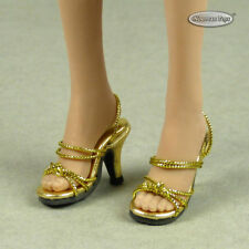 1/6 Phicen, TB League, Hot Toys, Cy & NT - Sexy Female Gold Strap Heels Shoes
