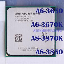 AMD  A6 A8-Series A6-3650 A6-3670K A8-3850 A8-3870K Socket FM1 CPU Processor