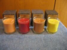Lot of Four Partylite Scented Jar Candles
